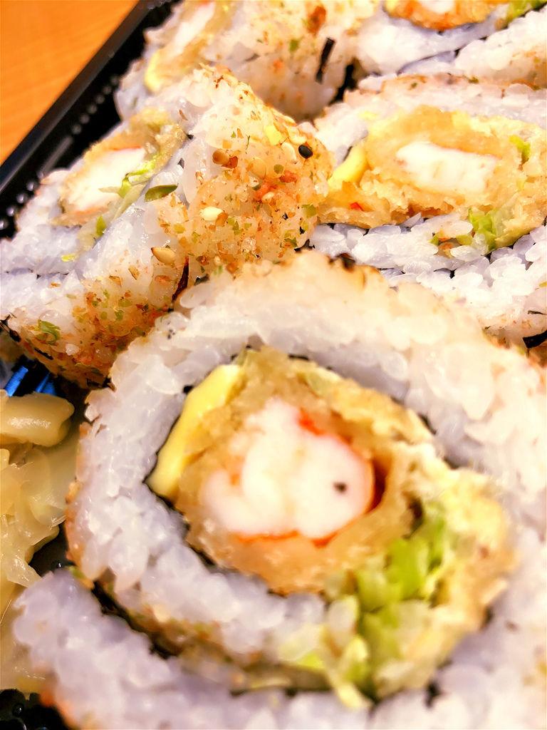 【江太日式便當盒餐】日式炸蝦壽司,台北日本料理‧江太壽司便當外送