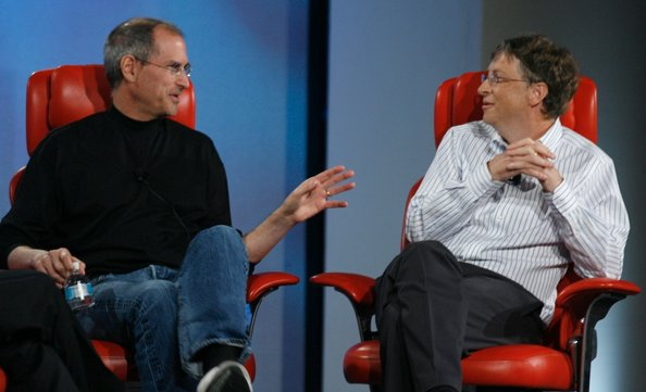 Steve Jobs & Bill GatesO1