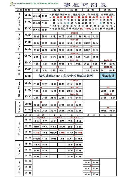 20160803金龍青棒決賽表