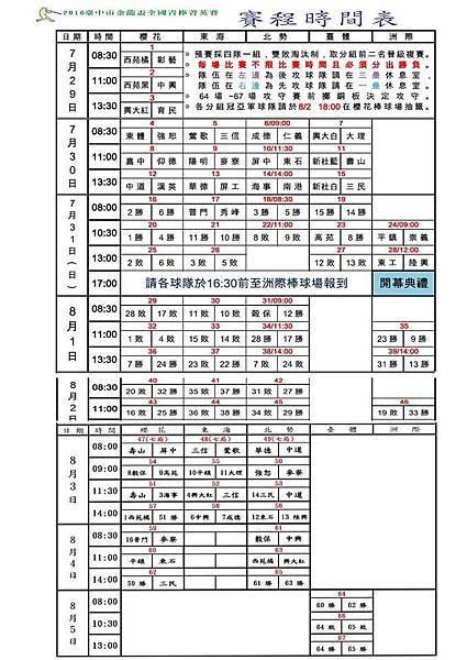 20160804金龍青棒決賽表