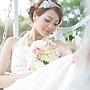 自助婚紗 優雅名伶 韓式手工珍珠髮圈 新秘雅芳