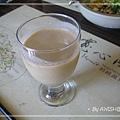[寬心園] 如意套餐的餐前飲料:精力蔬果汁,苜蓿芽味超明顯~~