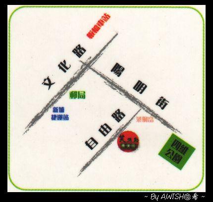 【地圖】笑彌勒名片上的簡易地圖....^_^