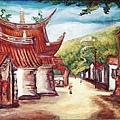 陳澄波1938年創作的〈古廟〉