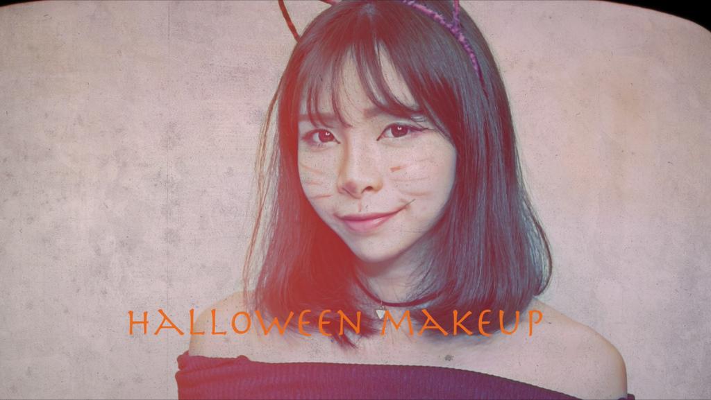 Halloween makeup 萬聖節粉紅貓咪妝容 珂荷莉.jpg