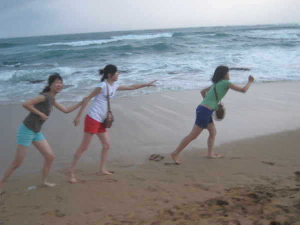 想拍海邊追逐的老梗