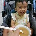 喝雞湯好開心