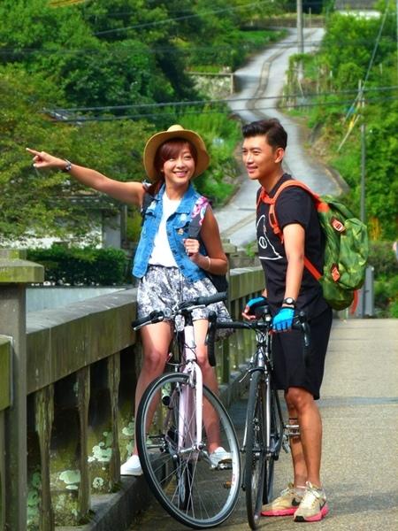 大分縣觀光代言人曾少宗、林欣霈耶馬溪自行車道