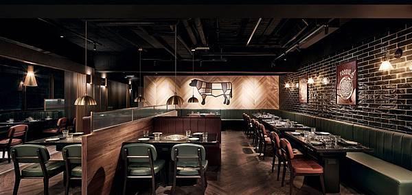 Buckskin 燒肉屋主打高品質牛肉:澳洲最高等級M9+和牛、美國特選級牛肉等,店內也有牛肉主題牆.jpg