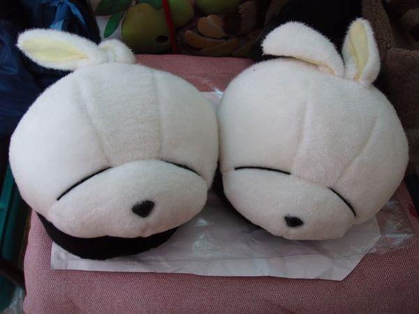好可愛的賤兔拖鞋.JPG