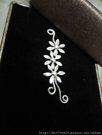 小花雙針耳環II