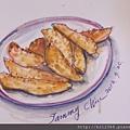 淡彩速寫 / 摩斯漢堡的金黃薯