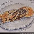 淡彩速寫:可愛好吃的 / 巧克力豆麵包