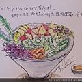 點的生菜沙拉超大盆的