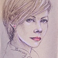 牛皮紙 / 色鉛筆人物素描練習