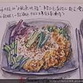 手繪食物 / 土魠魚快餐〈水彩生活速寫〉