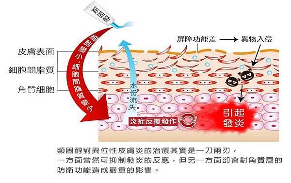 類固醇對皮膚的影響