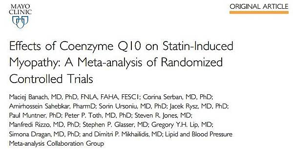 Effects of Coenzyme Q10 on Statin-Induced