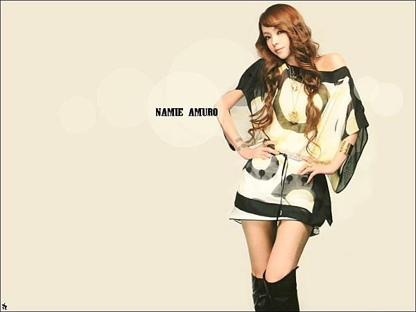 安室奈美惠的桌布