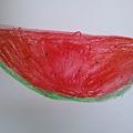 西瓜 水蠟筆