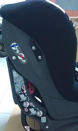 左側汽座圖示說明