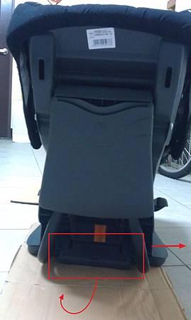 安全座椅向前時需向下前扳