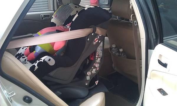 安全座椅向後-右側照