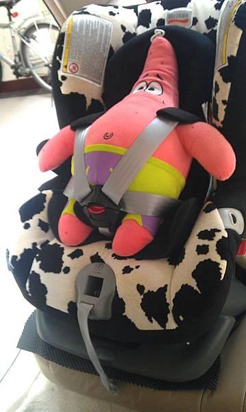 安全座椅向前綁法-前側照