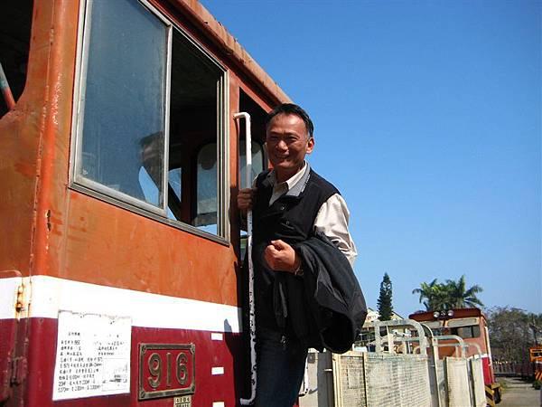 老爸要跟火車拍