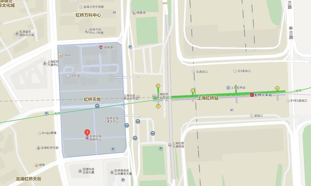 虹橋天地購物中心map