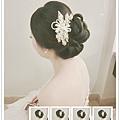 最佳氣質款〜 黑髮線條的盤髮搭配精緻珍珠髮飾 是最適合不過了