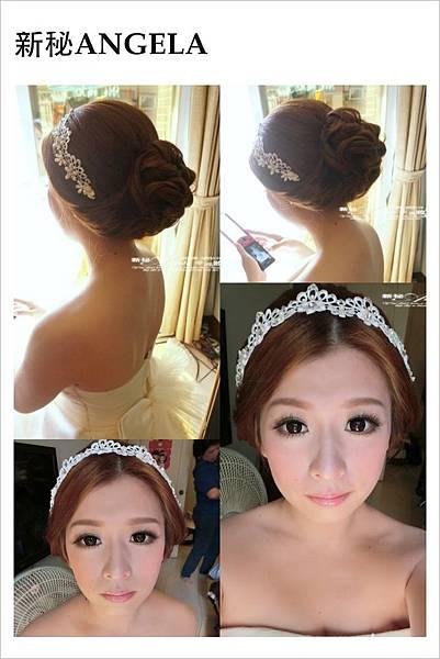 大眼水新娘 優雅低包搭上蕾絲髪帶~天造地設的一對-絕配