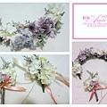 為明天拍新作品製作的手工花圈 粉紫色~好浪漫好夢幻好有FU喔~~