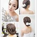 鮮花造型~ 優雅的編髪點綴上浪漫繡球花 既簡單又耐看