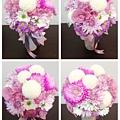 替新娘子設計手作捧花 有種特別幸福的成就感~