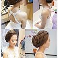 喜歡自然簡約韓風造型 乾淨精緻線條編髮更突顯立體小臉 搭配水鑽蕾絲白紗~清新不脫俗
