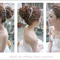 進場造型~花苞式盤髮 也是新娘常指定造型之一喔