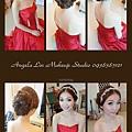 乾淨透亮的妝容~線條花苞造型 搭配上韓國手工飾品~整個超韓風呢~!