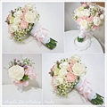 粉色搭白色系捧花~果然氣質又浪漫無誤~