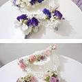 最近新娘們好愛手工鮮花兒~ 週週指定造型~ 鮮花各各都是手工製作配上獨一無二的你們,實在是美翻啦~
