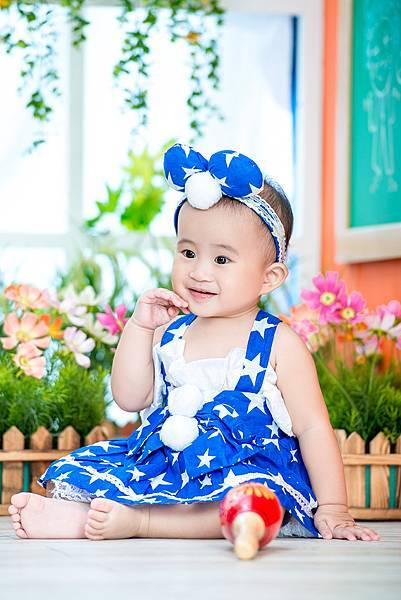 嬰兒寫真-初體驗--造型-藍色洋裝