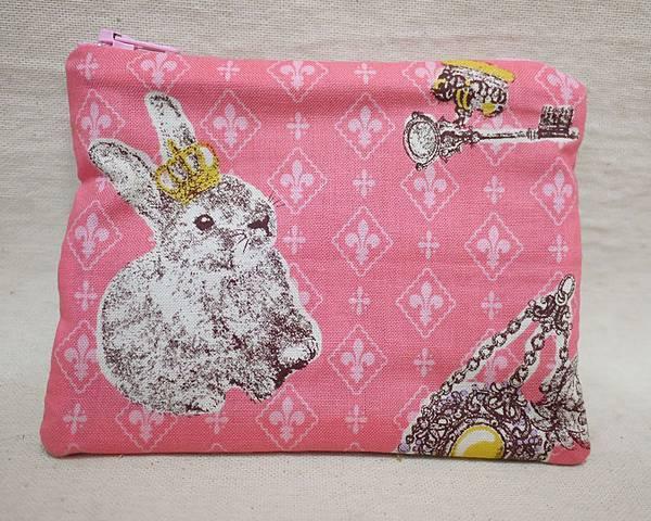 鑰匙零錢包 皇冠兔 粉紅