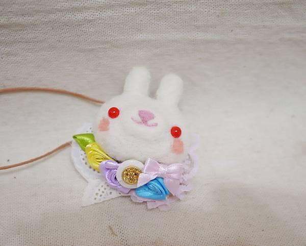 森林系小兔 別針 項鍊1