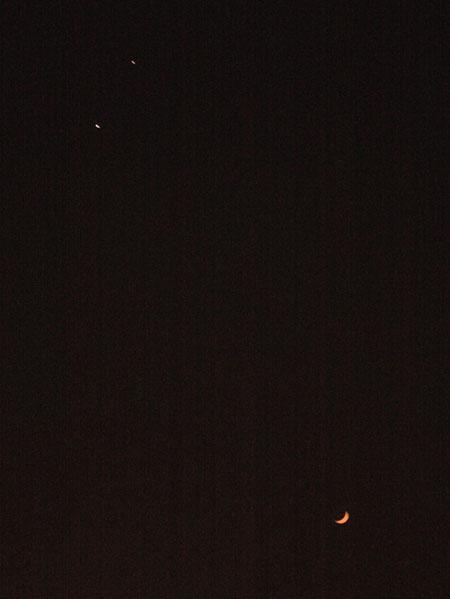 金星木星雙星拱月