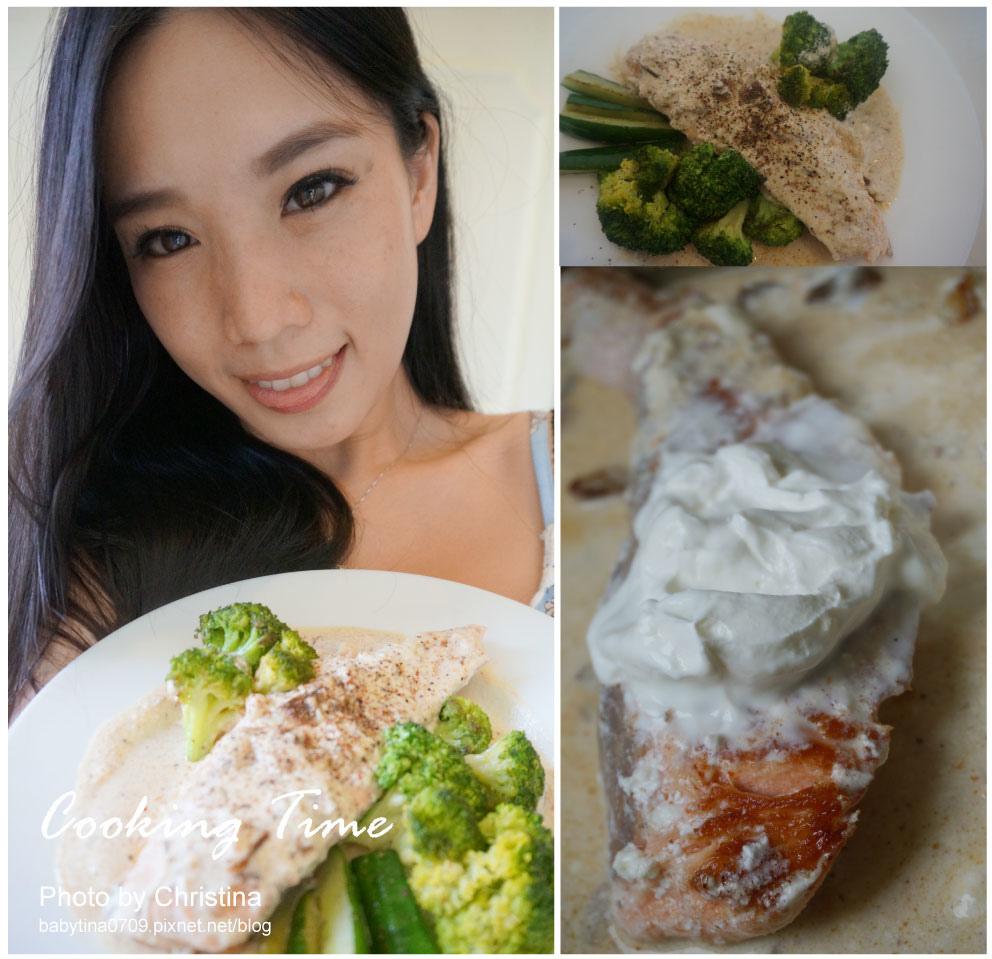 ♥食譜♥ 鮭魚料理~香煎鮭魚佐法式奶油醬