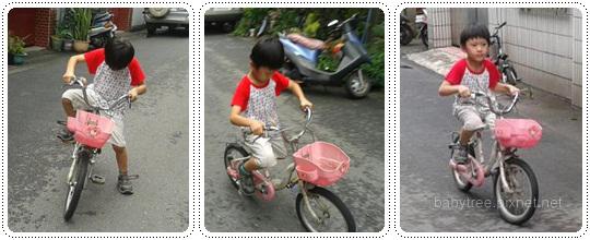 小孩學騎腳踏車