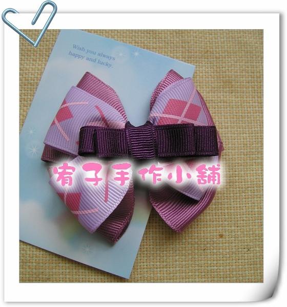 學院紫格紋髮夾.jpg