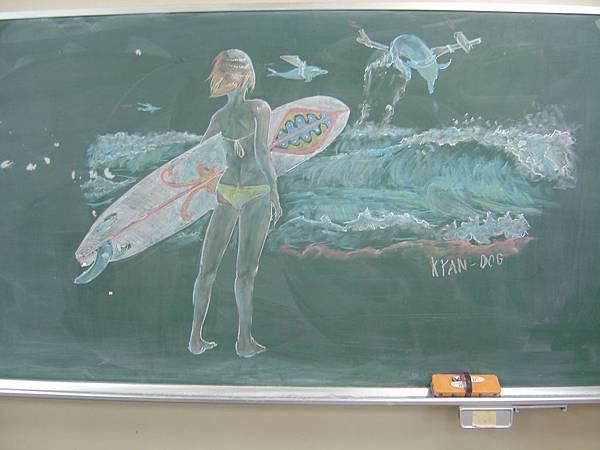 畫在黑板上的圖
