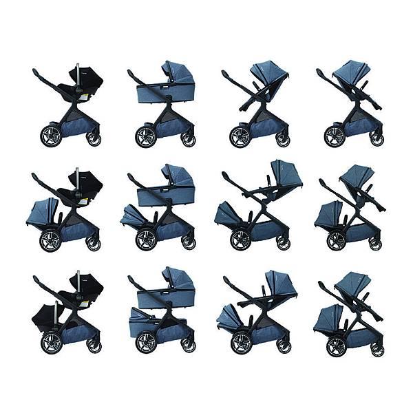 Nuna 新聞圖片】Demi grow推車,搭配推車座椅、提籃、睡籃,變化33種使用模式,灰藍色款,建議售價依實際推車組合模式而定%u3002.jpg