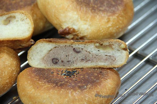 核桃紅豆麵包-025